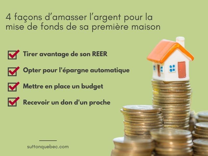 4 façons d'amasser l'argent pour la mise de fonds de sa première maison