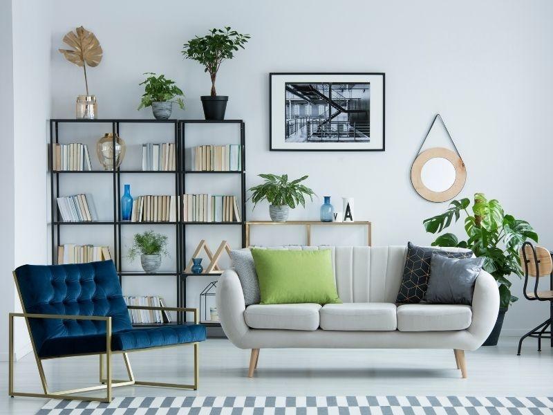 Opter pour des meubles avec pieds pour alléger une pièce