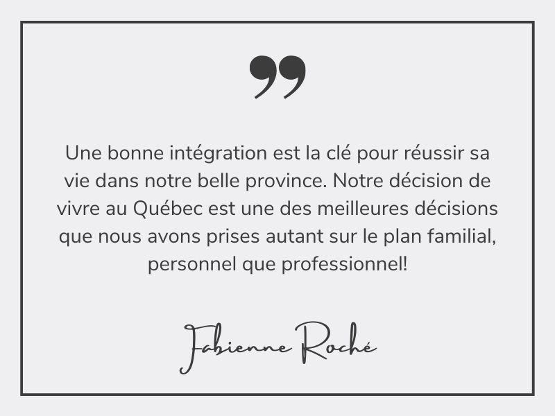 Fabienne Roché - citation sur l'intégration