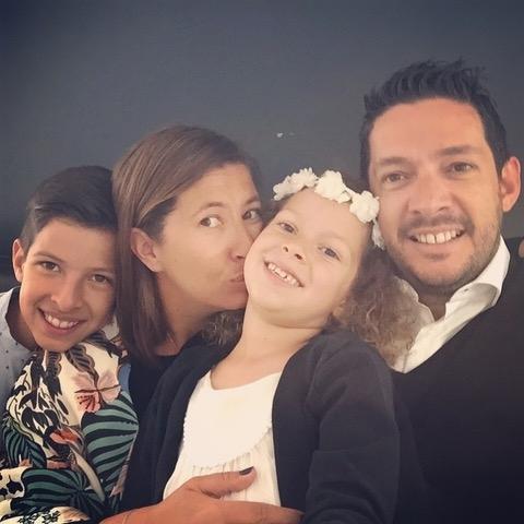 Fabienne Roché avec sa famille