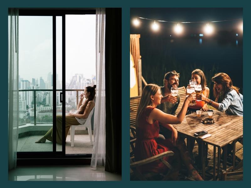 alt : exemple critère d'achat balcon terrasse ou jardin