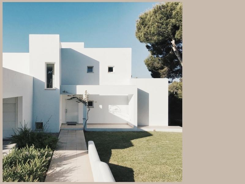 inspiration revêtement extérieur de maison blanc