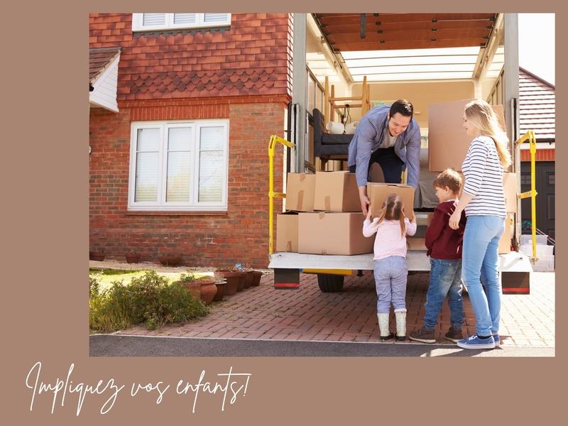alt : impliquer les enfants pendant son déménagement